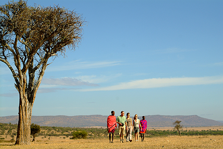 Walking with Maasai