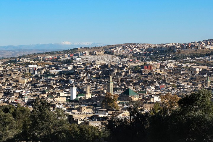 View over Fes el Bali from Merinid tombs