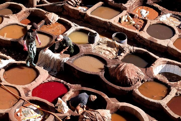 Dye pits, Chouwara tanneries