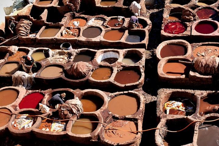 Dye pits at Chouwara tanneries