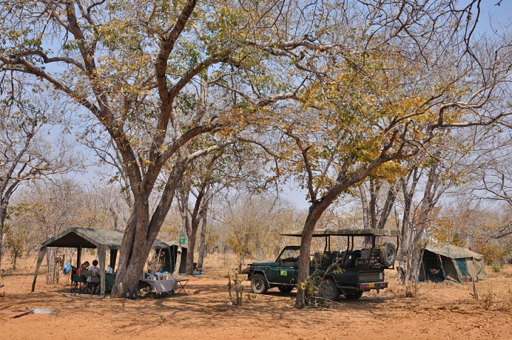Our campsite in Chobe NP