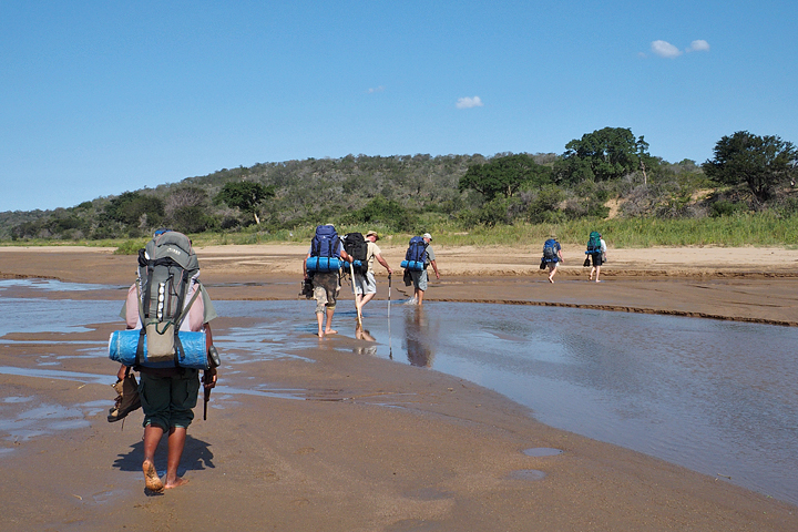 Crossing the White Umfolozi river