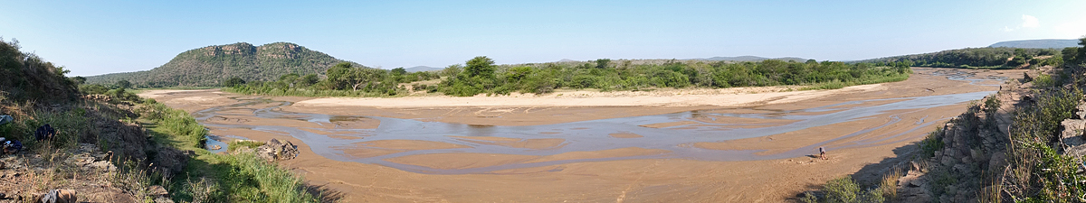 Panoramic view of the river from our camp