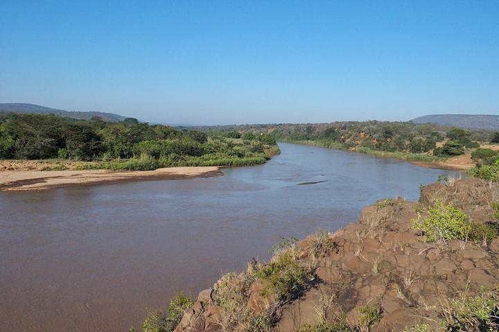 A much fuller river