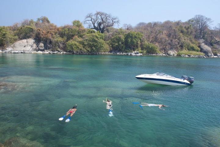 Snorkelling Lake Malawi