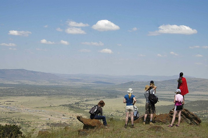 Looking out over the Masai Mara