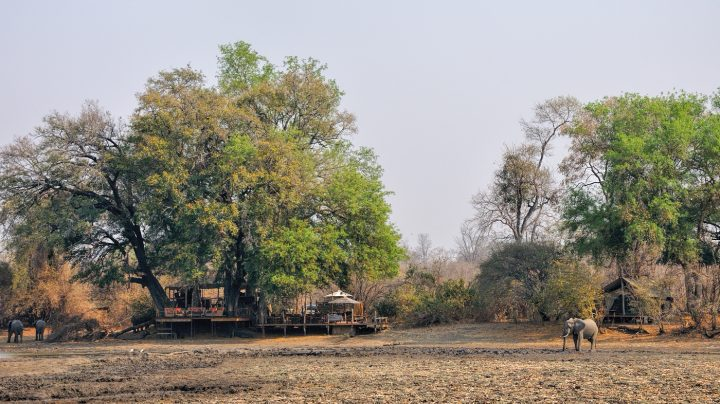 Looking across kanga Pan to Kanga Camp