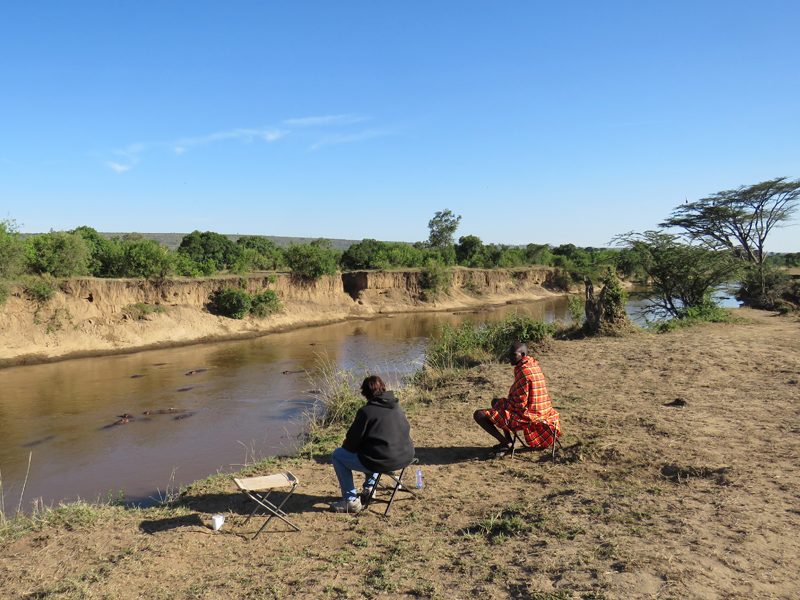 By the Mara river