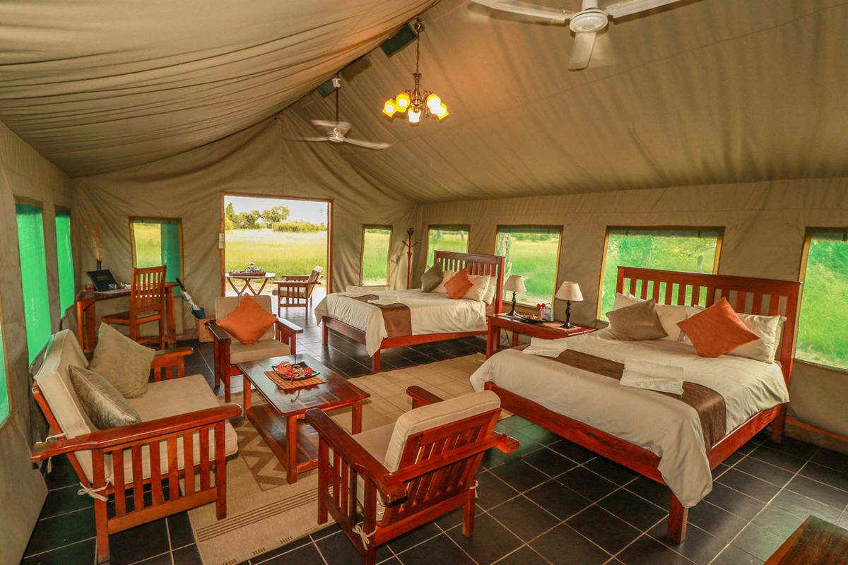 Guest Tent Interior, Hwange