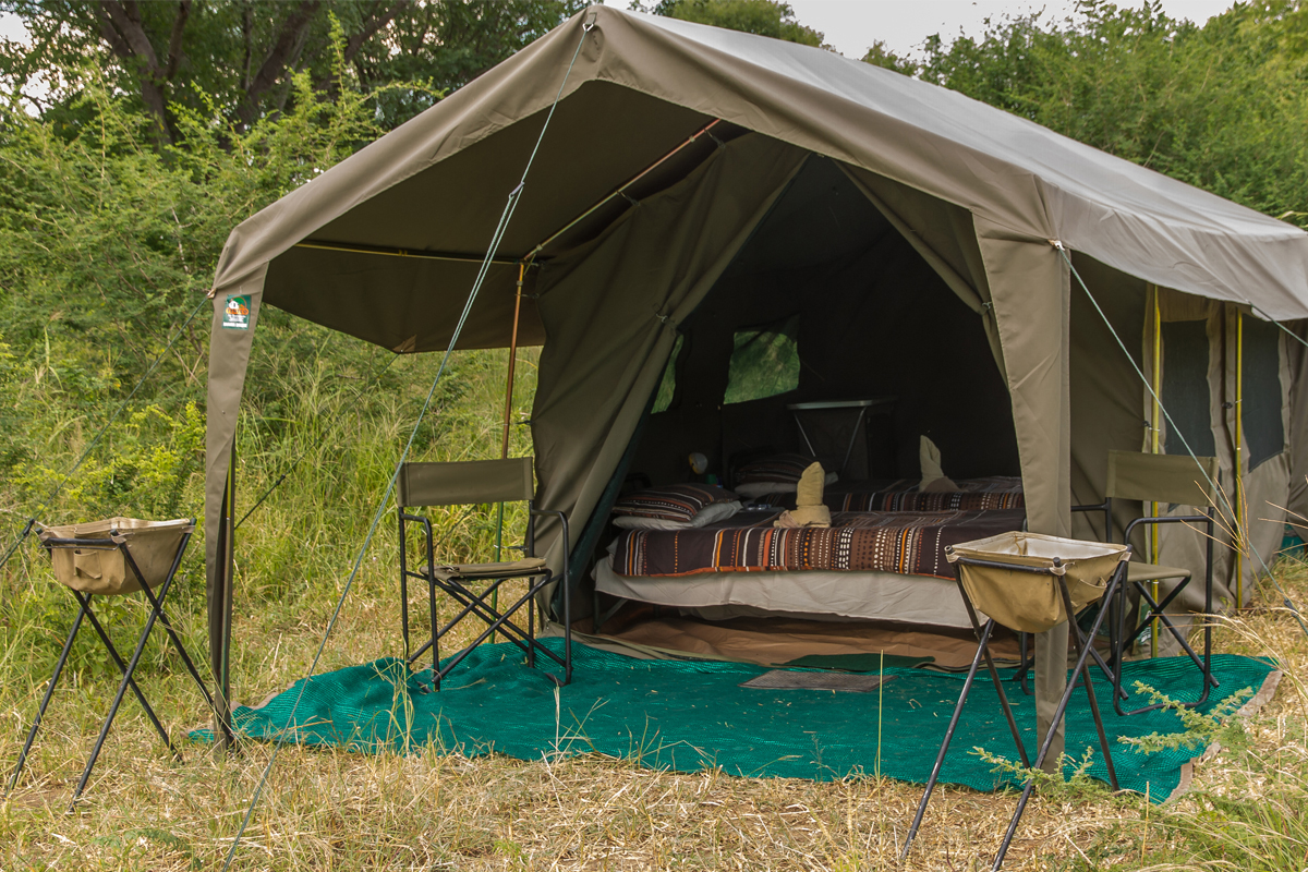 Typical tent for our mobile safaris