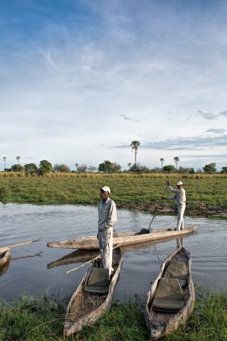 Okavango Delta, Mokoros