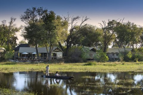 Khwai tented camp viwed from river