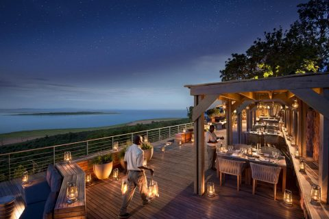 the deck at Bumi Hills Safari lodge