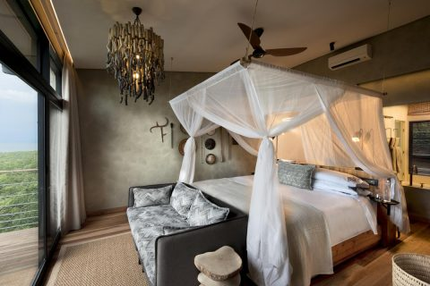 guest bedroom at Bumi Hills Safari Lodge