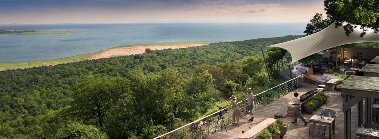 Looking out over Lake Kariba from Bumi Hills safariLodge