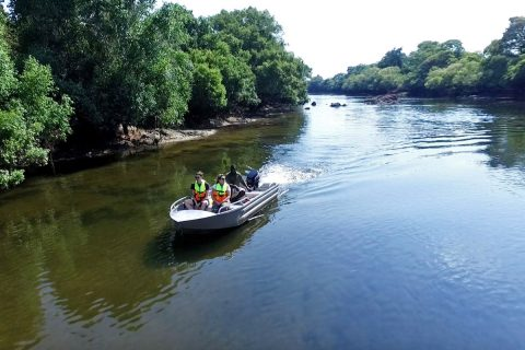 boat cruise on Kafue River