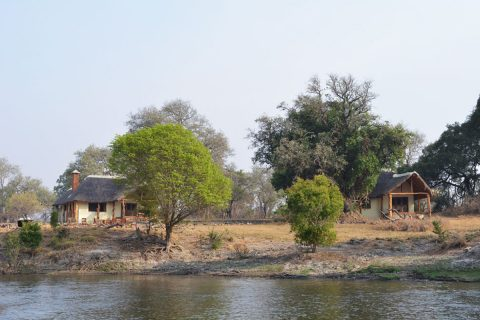 Kafue River Lodge, viewed from the river