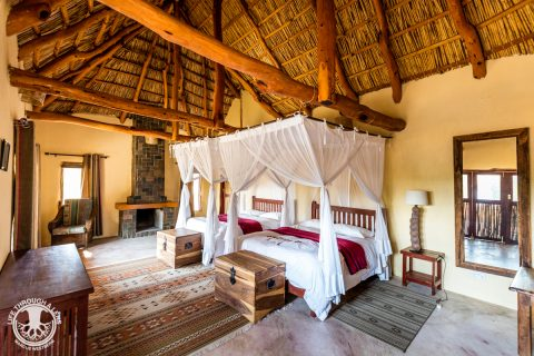 Guest Chalet, interior, Kafue River Lodge