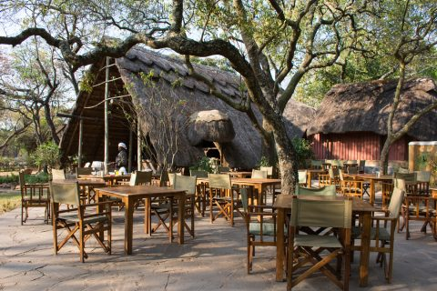 Outside dining area, Pioneer Lodge, Lusaka