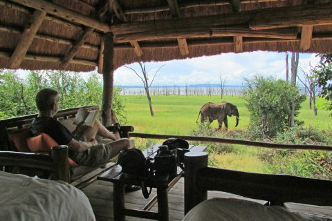 Rhino safari camp, view from guest bedroom