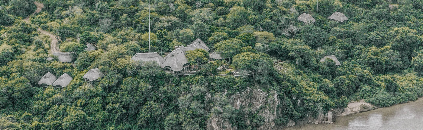 Chilo Gorge Safari Lodge, aerial view