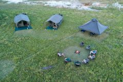 mobile safari camp, aerial view