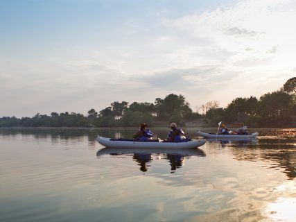 canoeing on Zambezi