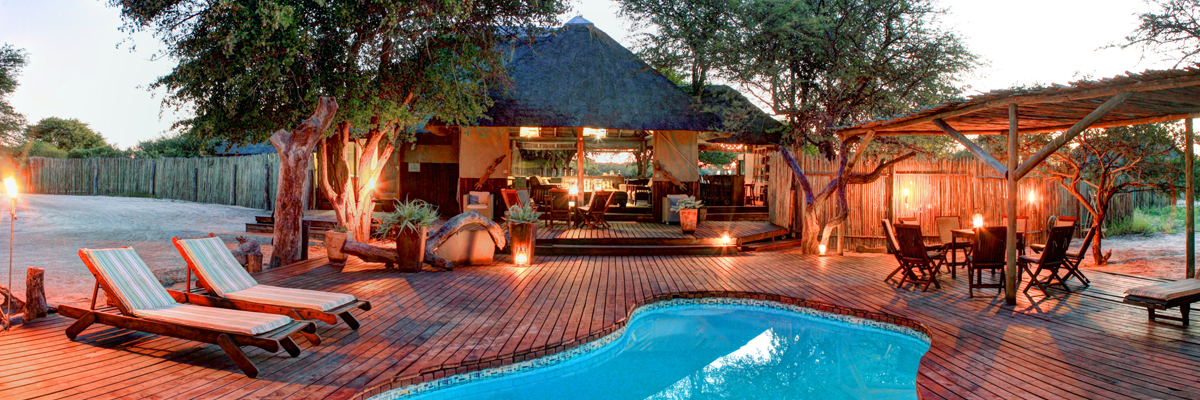 Haina Kalahari Lodge, Main guest area