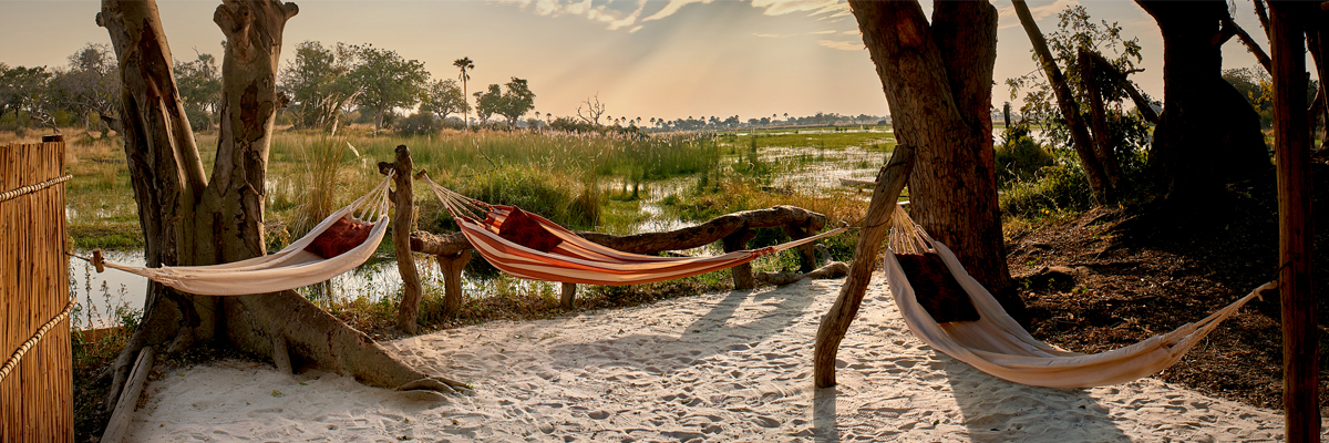 Chill out area, Oddballs, Chief's Island, Okavango Delta