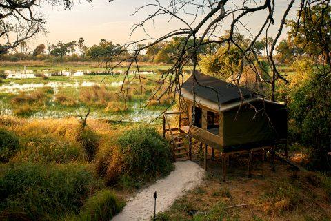 Guest chalet, Oddballs, Chief's Island, Okavango Delta