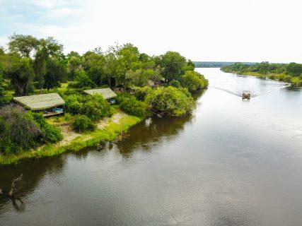 Chundu Island, River Suites, aerial view