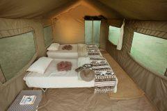 guest tent interior, Letaka Safaris