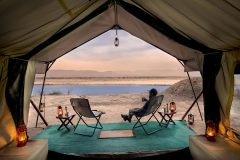 zambezi expeditions, relaxing by tent