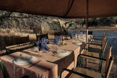 dining area in camp