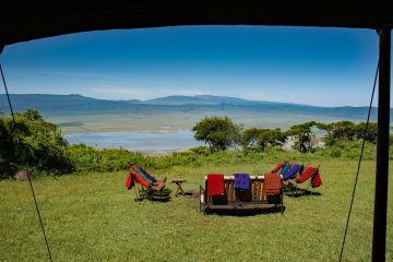 view over the Ngorongoro crater from Kirurumu camp