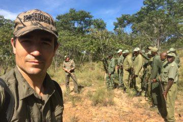 Niall McCann in Chizarira NP, Zimbabwe