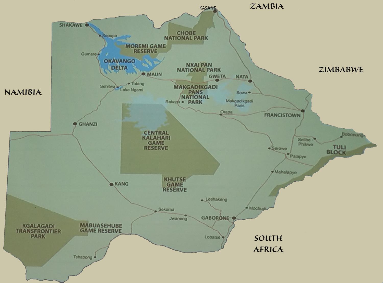 Botswana Map